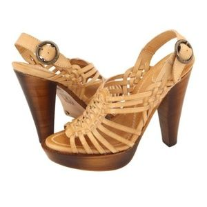 Frye Joy Huarache Platform Leather Heels Sandal 10